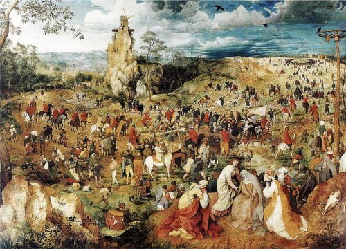 "1564 Pieter Bruegel the Elder's ""The Procession to Calvary"""