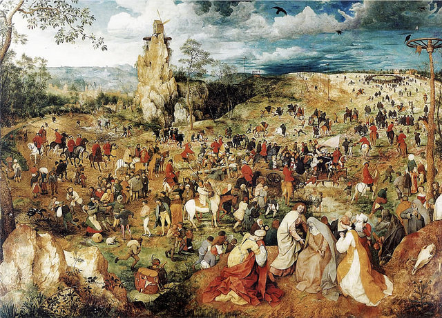"1564 Pieter Bruegel the Elder's ""The Procession to Calvary"""