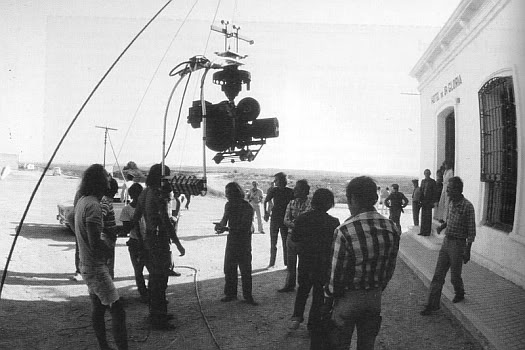 On the set of 'The Passenger' by Antonioni Michelangelo, 1974
