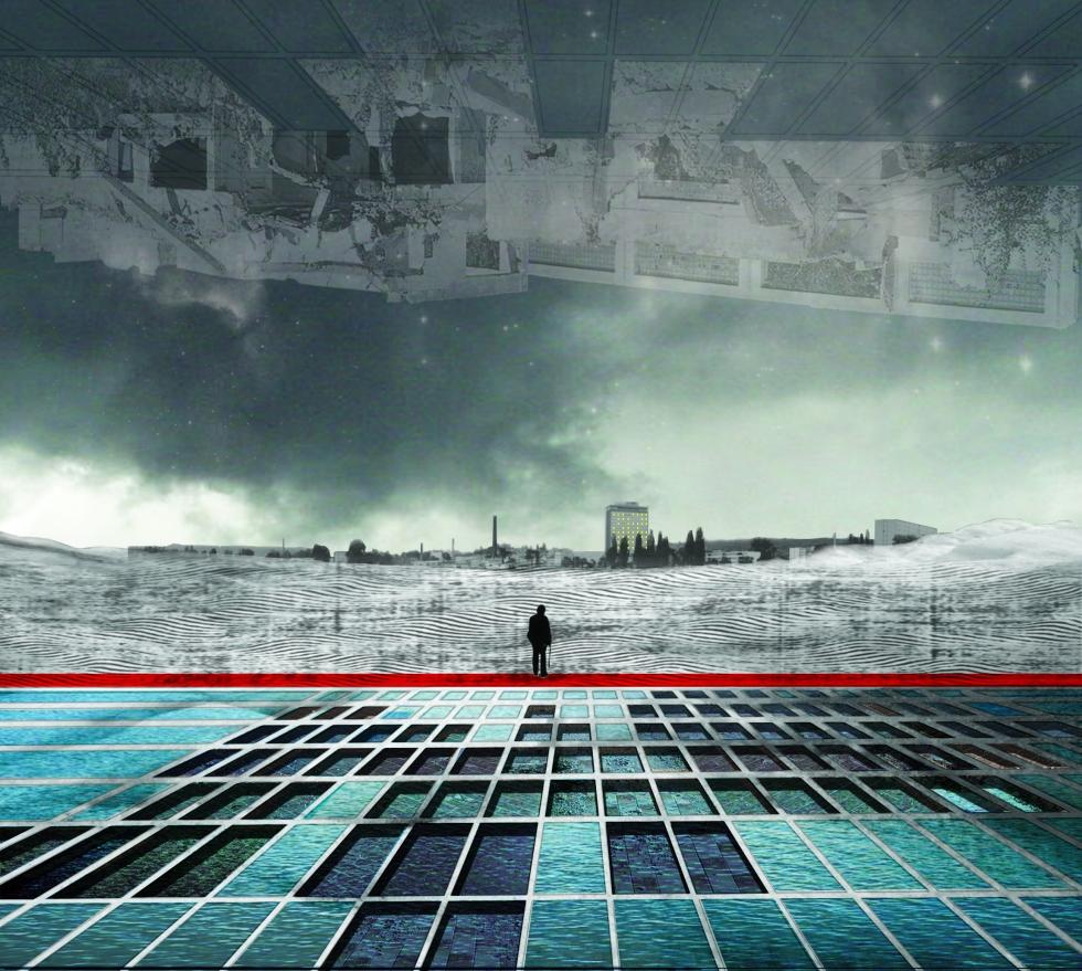 'echo of emptiness' collage by Zuzana Jančovičová (see below)