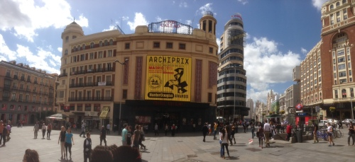 At the cinema along the Grand Via Madrid